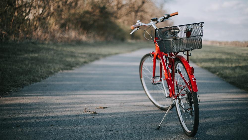 bike with a kickstand